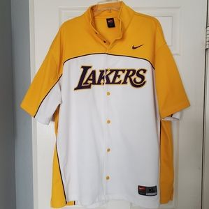 Nike Vintage Lakers Warmup Jacket Short Sleeve XL